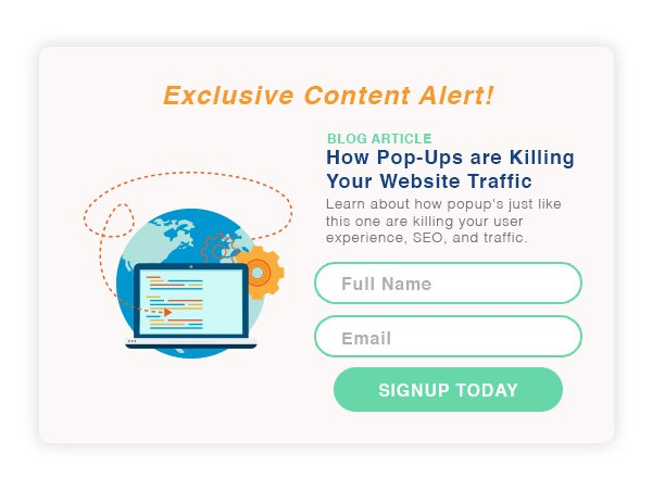 popups killing your business